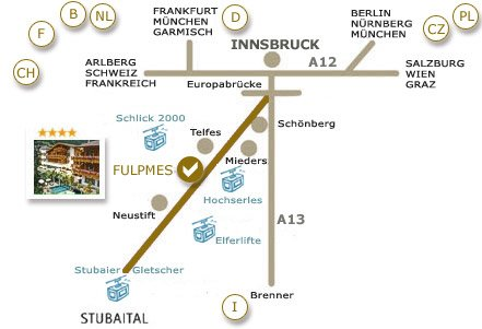 Directions to the Donnerhof**** Stubaital